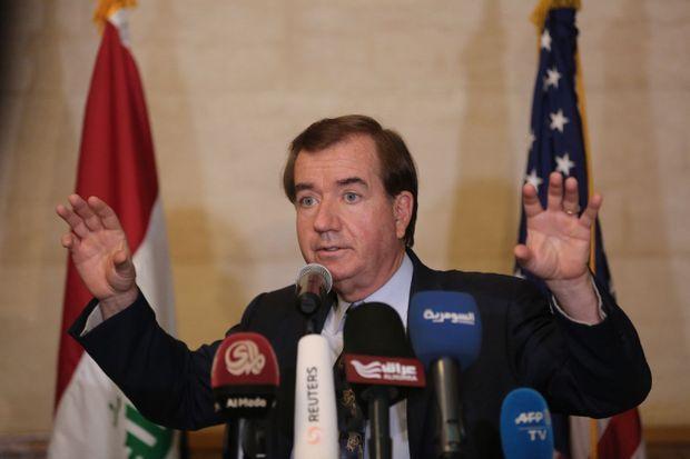 Ed Royace, président de la Commission des Affaires étrangères du Congrès américain, ici le 4 avril 2016, lors d'un déplacement à Bagdad