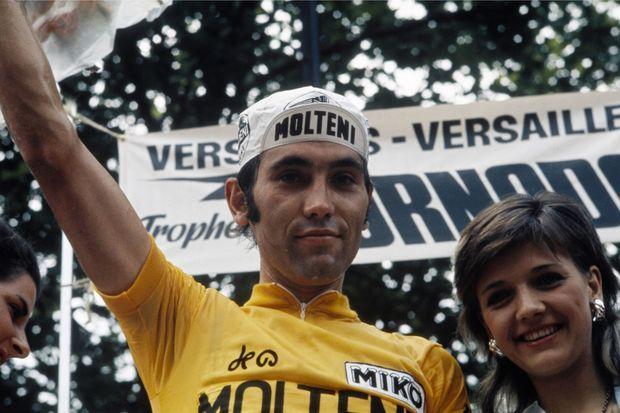 Eddy Merckx, en jaune sur le Tour 1972.