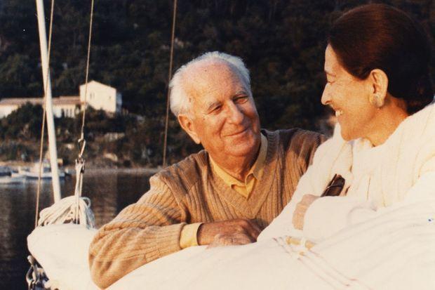 Edmonde Charles-Roux et Gaston Defferre