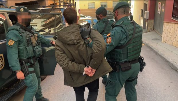 «El Poti », spécialiste du vol de marchandise, arrêté par le groupe d'action rapide de la Guardia Civil, le 16 janvier.