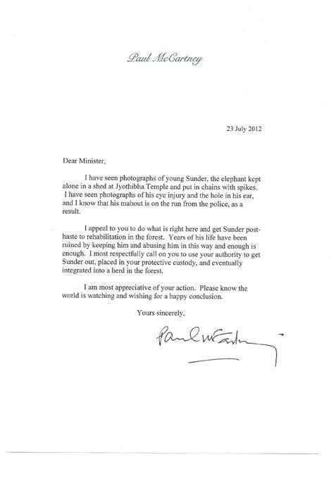 En 2012, Paul McCartney avait envoyé une lettre au ministère indien en faveur de la libération de Sunder.