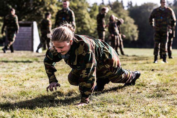 Elisabeth en plein entraînement.