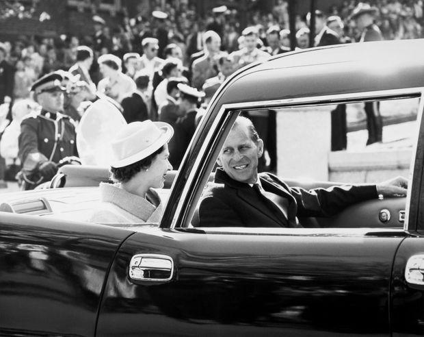 La reine Elizabeth II et son époux Philip, au Canada en juin 1959.