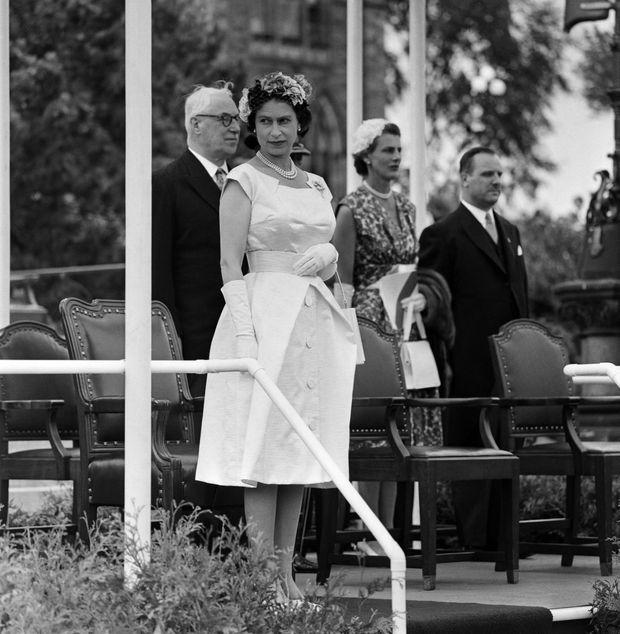 La reine Elizabeth II au Canada en juillet 1959.