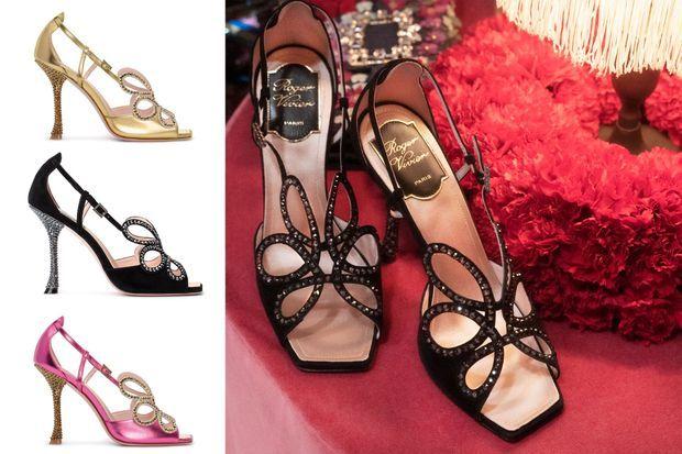 """Les """"Vivier Queen Sandals"""" de la collection Printemps-Eté 2020 de la Maison Roger Vivier"""