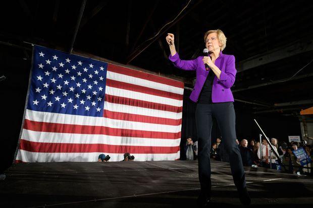 La candidate à la primaire démocrate Elizabeth Warren, à New York, le 8 mars dernier.