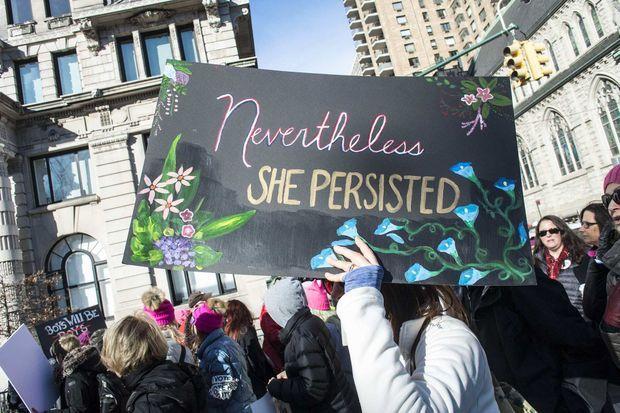 Manifestation à New York, en janvier 2018.