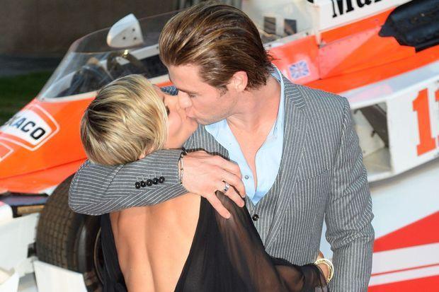 """En septembre dernier, le couple était apparu très amoureux à la première de """"Rush""""."""
