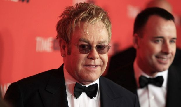 Elton John et David Furnish -