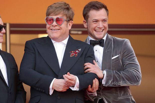 Elton John et Taron Egerton pour la présentation de «Rocketman» à Cannes, le 16 mai.