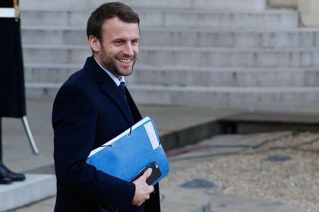Emmanuel Macron, alors ministre, en janvier 2016.