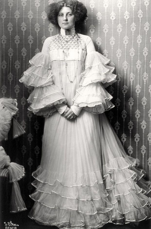 Emilie Flöge, compagne de Klimt, en 1909