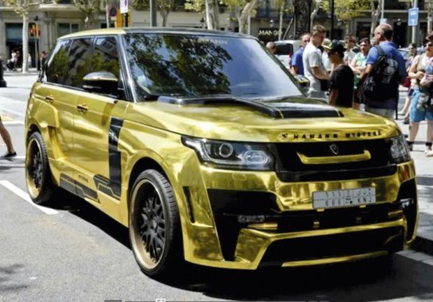 le Range Rover plaqué or du prince, une folie estimée à 200 000 euros.
