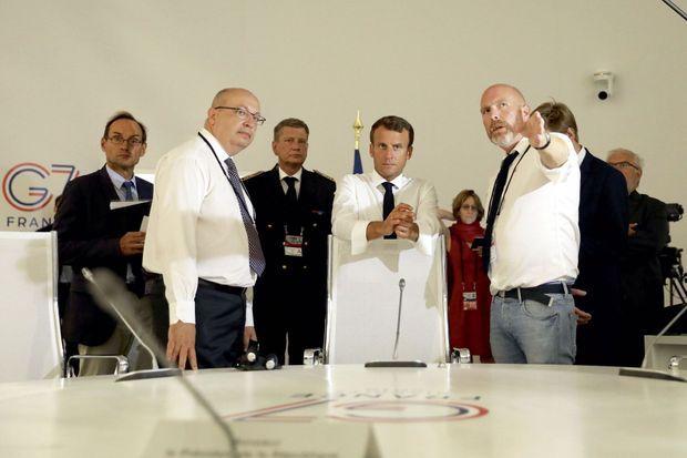 Avec Jean-Pierre Thébault (à g.), ambassadeur chargé de la préparation de la présidence française du G7
