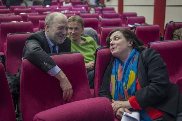 Denis Baupin et Emmanuelle Cosse lors d'une réunion d'EELV en janvier dernier.
