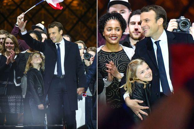 Emmanuel Macron et sa petite-fille Emma