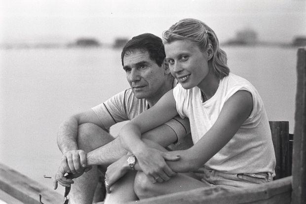 En 1977 dans le Var, avec sa troisième femme, l'actrice Candice Patou