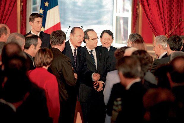 En 2004, David Khayat, entre Jean-François Mattei