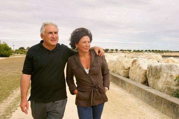 En 2005 à La Rochelle. Le couple se séparera en 2012 après les révélations de l'affaire du Carlton de Lille.