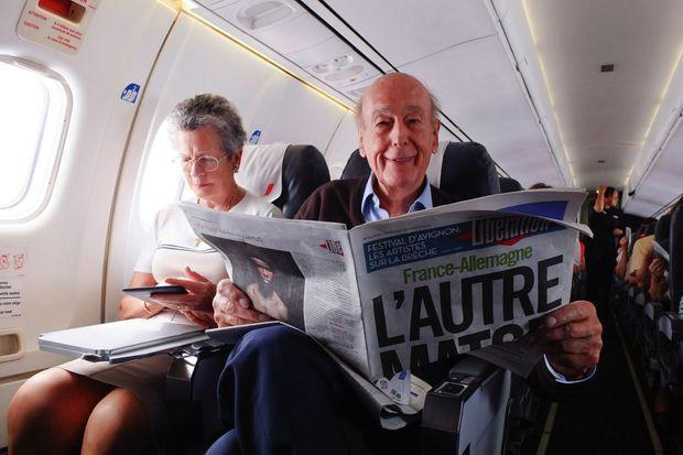 En 2014, durant un vol avec Anne-Aymone. pendant la Coupe du Monde.