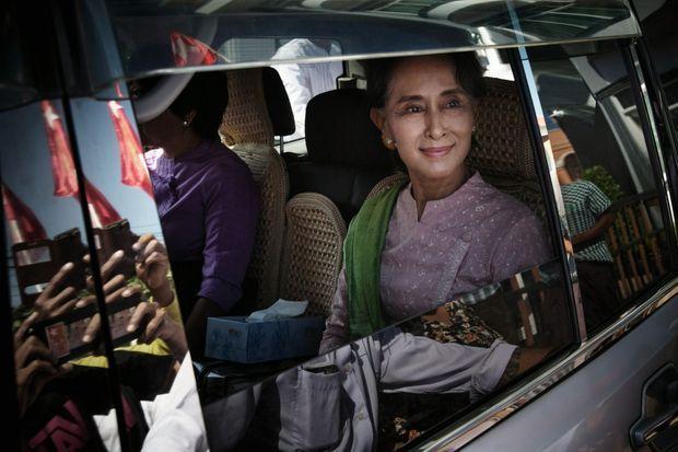 En 2015, pendant sa campagne, dans l'Etat shan, toujours en conflit avec les militaires. A 70 ans, enfin au pouvoir, Aung San Suu Kyi n'a pas préparé sa succession