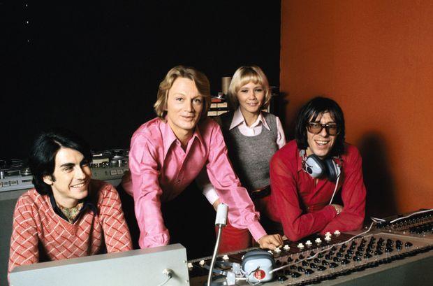 En janvier 1973, séance d'enregistrement avec Claude François.