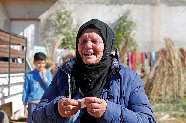 En Tunisie : Gamra, la mère de Brahim Aouissaoui.