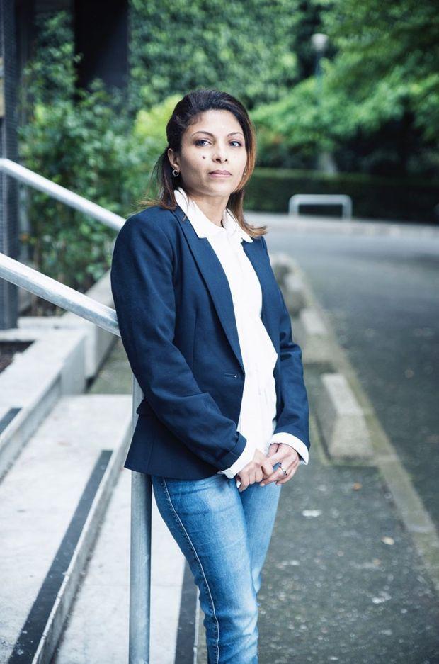 Ensaf Haidar, la femme de Raif Badawi, pose pour Match.