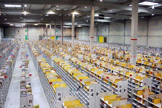L'entrepôt d'Amazon à Saran, près d'Orléans.