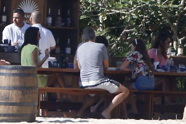 Amal et George Clooney à Cabo San Lucas le 22 décembre