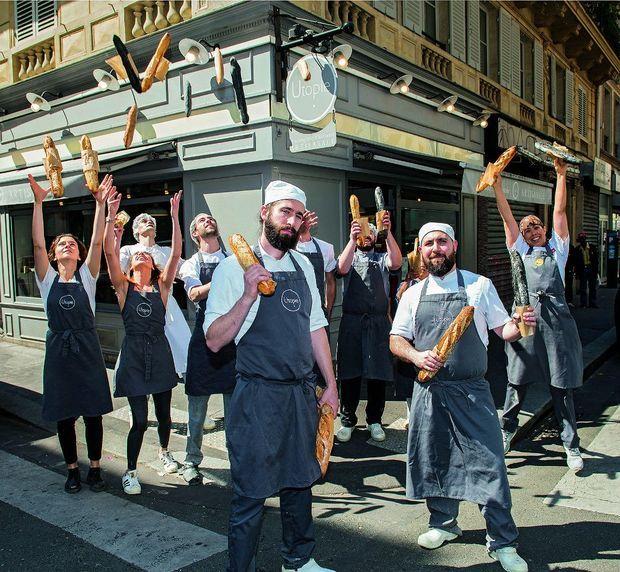 Erwan, Sébastien et leur équipe, lauréats en 2016 du concours de la meilleure boulangerie de France.