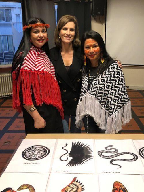 Esmeralda de Belgique avec Daiara Tukano, activiste indigène brésilienne ( à droite).