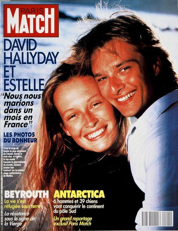 Estelle et David Hallyday en couverture de Paris Match n°2100, daté du 24 août 1989