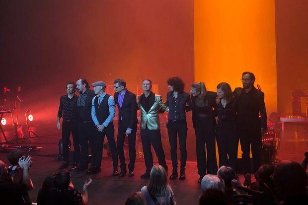 Etienne Daho et ses musiciens à Créteil, le 25 octobre 2019.