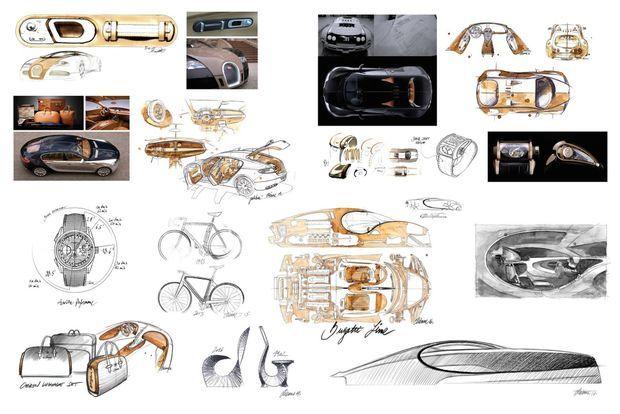 Artiste au vrai sens du terme, Etienne Salomé ne s'interdit aucune passion. Quand il ne se penche pas sur le style des Bugatti, concepts ou de série, il conçoit de la bagagerie, de l'horlogerie ou des vélocipèdes.