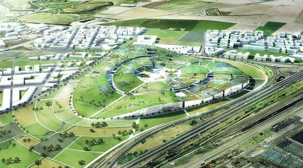 Le projet Europa City conçu par le cabinet d'architecture BIG.