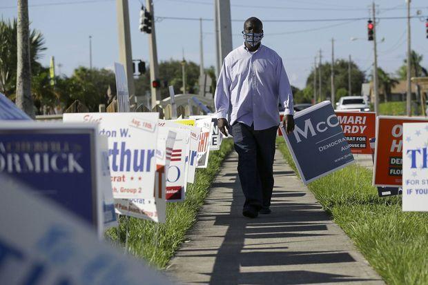 Le 10 août dernier, à Riviera Beach, en Floride : William Freeman, ex-détenu qui s'est inscrit sur les listes électorales.