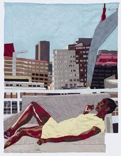 « Top of the World », Billie Zangewa, 2013.