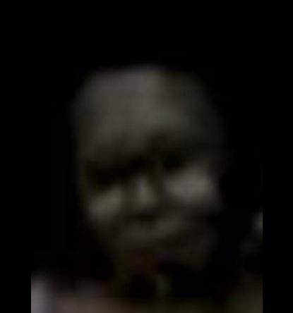 Un agrandissement du visage réalisé à partir de la vidéo originale et partagé sur Facebook par Hernandez Blankhaa.