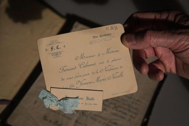 Faire-part de naissance d'Yvonne, le 19 janvier 1898.
