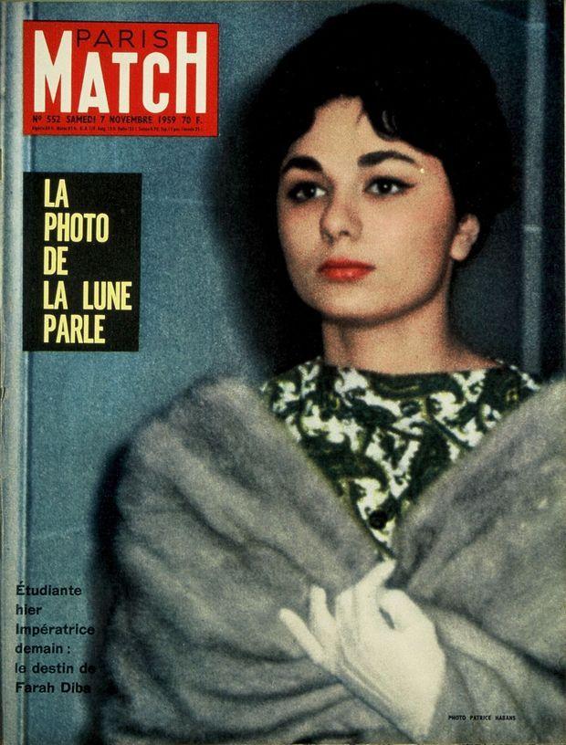 « Étudiante hier, Impératrice demain : le destin de Farah Diba » - Paris Match n°552, 7 novembre 1959