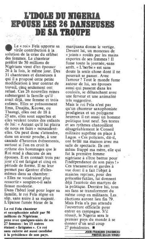 Article publié dans Paris Match le 24 mars 1978
