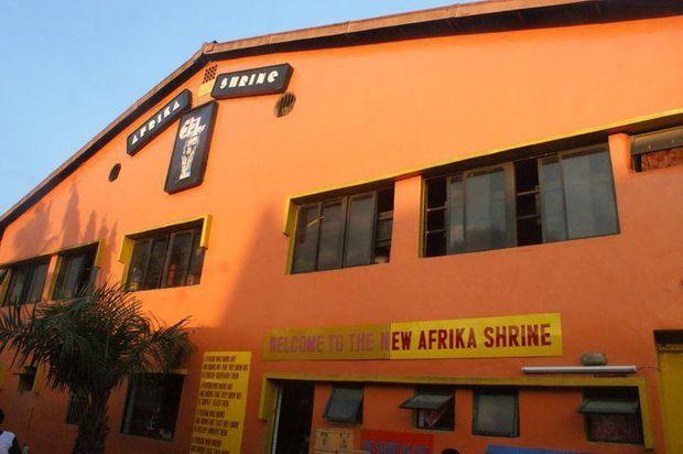 """L'Afrika Shrine, la salle de concert où se déroule chaque année la """"Felabration"""", Nigeria."""