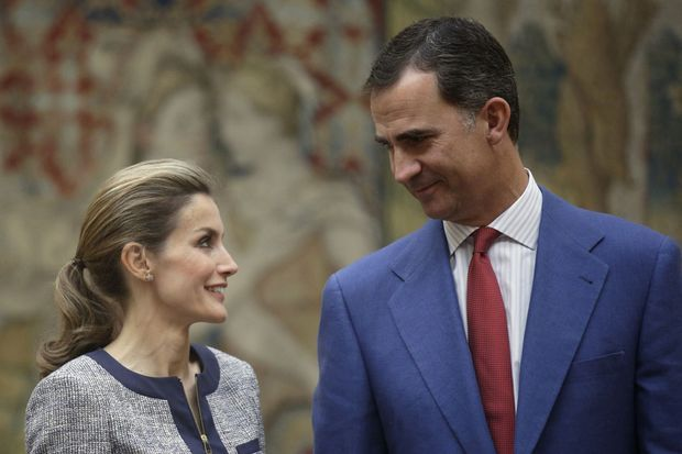 Felipe et Letizia le 24 juin au Palais lors d'une rencontre avec des associations.