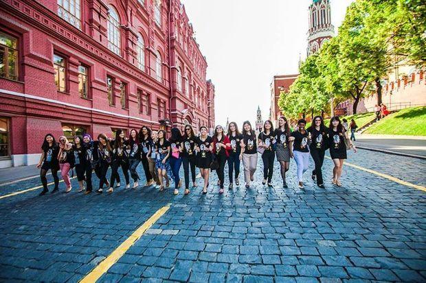 Sur la place rouge à Moscou.