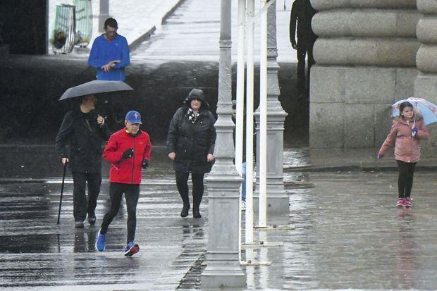 Mise en jambes avant son week-end marathon, samedi 4 mars, à Paris.