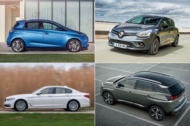 Renault ZOE, Renault Clio, BMW Série 5, la plus vendue en catégorie luxe, Peugeot 3008