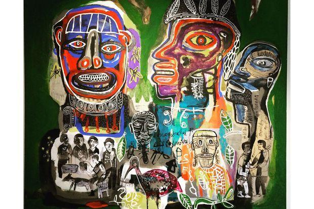 """""""Conclave autour du masque"""", Hako Hankson (Fondation Donwahi)"""