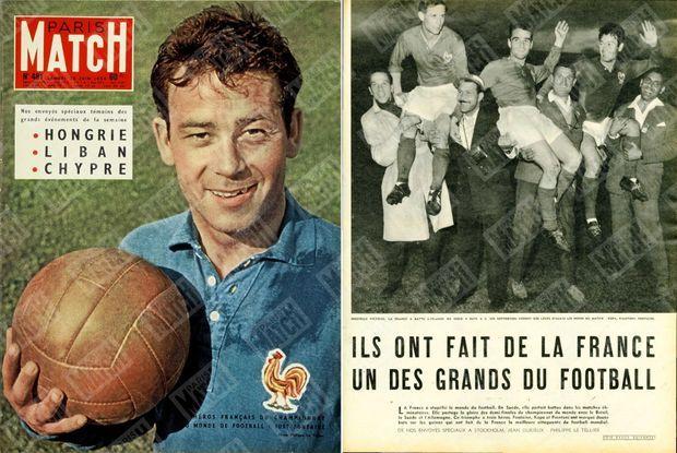 Just Fontaine en couv' de Match, n°481