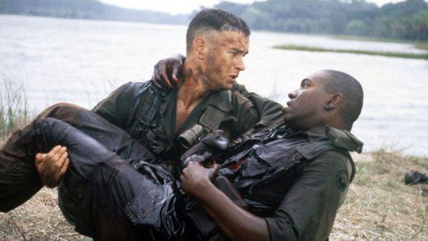 « Forrest Gump », réalisé par Robert Zemeckis en 1994, avec Tom Hanks et Mykelti_Williamson.